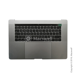 "Корпус в сборе Fully Assembled Topcase for MacBook Pro Retina 15"", A1707, раскладка UK, цвет Space Gray. Оригинал"