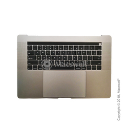 "Корпус в зборі Fully Assembled Topcase for MacBook Pro Retina 15"", A1707, розкладка US, колір Silver. Оригінал"