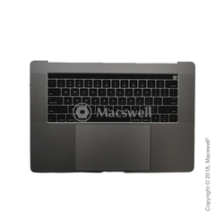 "Корпус в сборе Fully Assembled Topcase for MacBook Pro Retina 15"", A1707, раскладка US, цвет Space Gray. Оригинал"