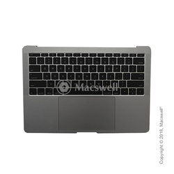"Корпус в сборе Fully Assembled Topcase for MacBook Pro Retina 13"", A1708, раскладка US, цвет Space Gray. Оригинал"