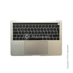 "Корпус в зборі Fully Assembled Topcase for MacBook Pro Retina 13"", A1706, розкладка UK, колір Silver. Оригінал"