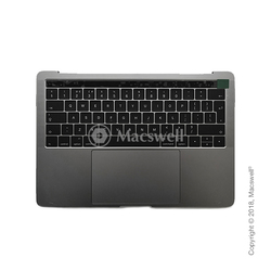 "Корпус в сборе Fully Assembled Topcase for MacBook Pro Retina 13"", A1706, раскладка UK, цвет Space Gray. Оригинал"