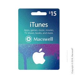Подарунковий сертифікат Apple iTunes Gift Card $15, US