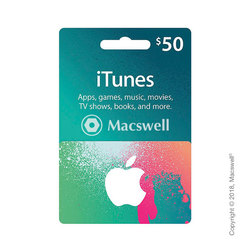 Подарунковий сертифікат Apple iTunes Gift Card $50, US