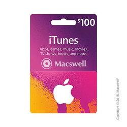 Подарунковий сертифікат Apple iTunes Gift Card $100, US