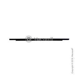 """Стеклянная панель с логотипом Glass panel/Logo Board for MacBook Retina 12"""", A1534,  Silver"""