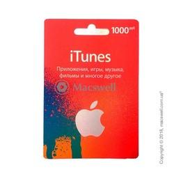Подарунковий сертифікат iTunes Gift Card 1000 RUB, RU-регіон