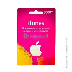Подарунковий сертифікат iTunes Gift Card 3000 RUB, RU-регіон